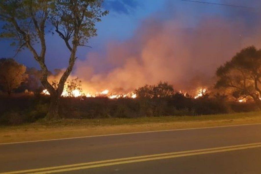 En el acceso a Paso de la Patria, incendios llegan a transformadores de la DPEC