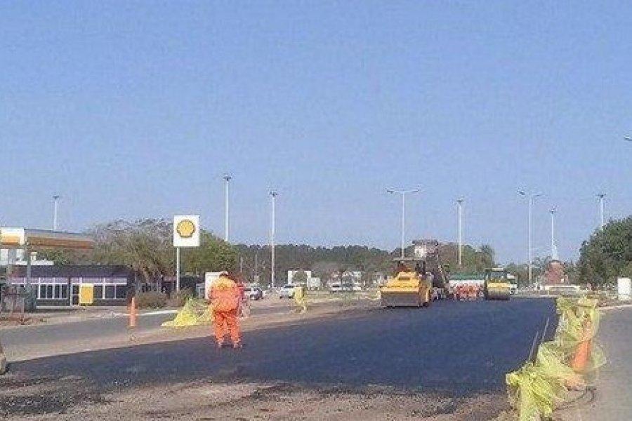 Siguen las obras en la Autovía de Ruta 12, por lo que insisten en la precaución en el tránsito