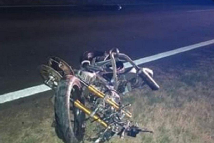 Un joven murió tras caer de su moto en Ruta 5