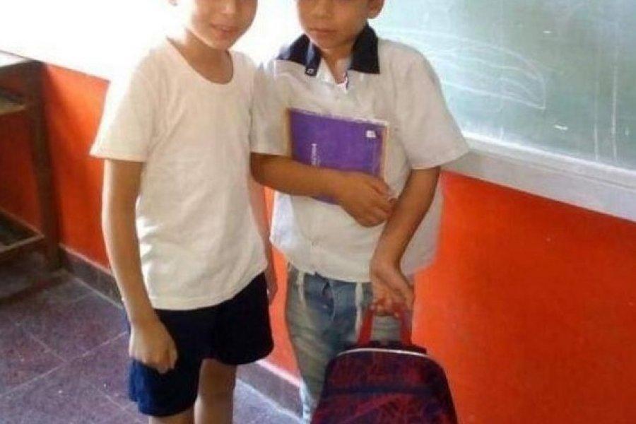Un nene chaqueño donó útiles para un amiguito de Corrientes