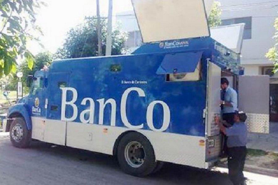 Cronograma de recorrida del Banco móvil en la ciudad
