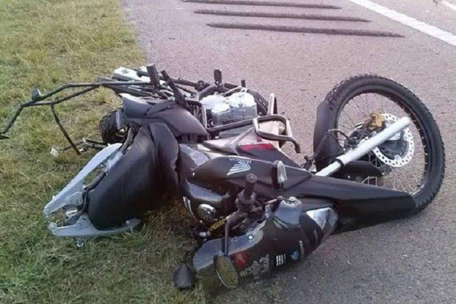 Motociclista en grave estado tras un siniestro vial