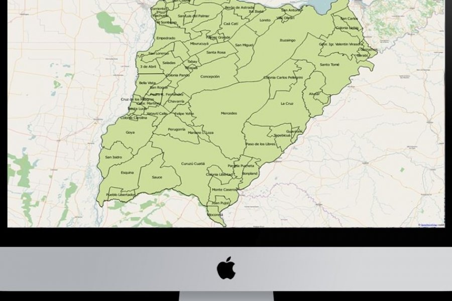 Corrientes: Crean la Infraestructura de Datos Espaciales para gestionar información geográfica del Estado provincial