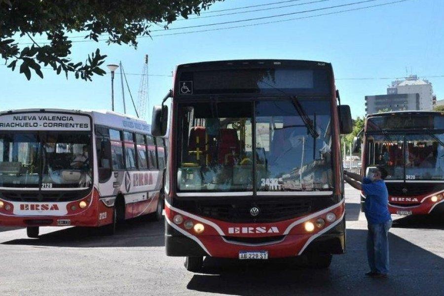 Anuncian que el servicio de transporte público en Corrientes para éste martes será normal