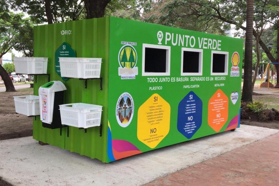 Corrientes: Se inauguró el quinto Punto Verde y anunció que pronto se instalará otro más