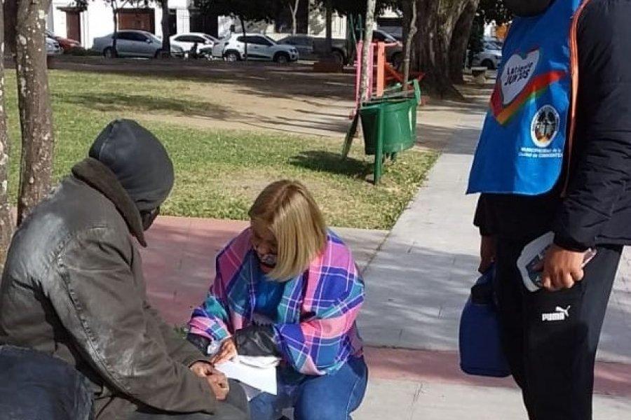 Corrientes: Intensifican la atención a personas en situación de calle