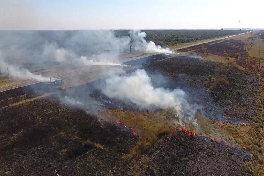 Cinco hectáreas de pastizales quemadas cerca de Yofre