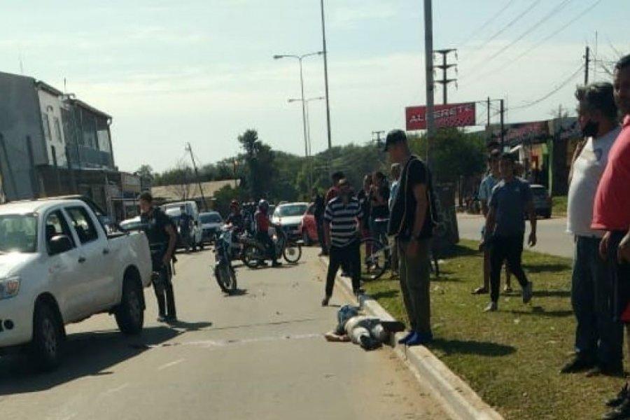 Dos heridos graves tras una colisión por calle Medrano