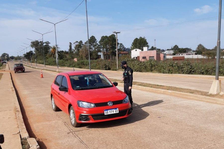 La Policía realiza controles para hacer cumplir la fase 1