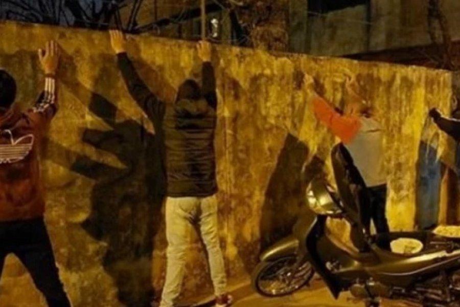 Fin de semana movido: Un apuñalado, enfrentamientos con la Policía y demorados por desorden