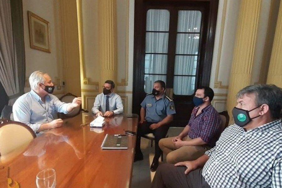 Autoridades municipales se reunieron con el Ministro de Seguridad