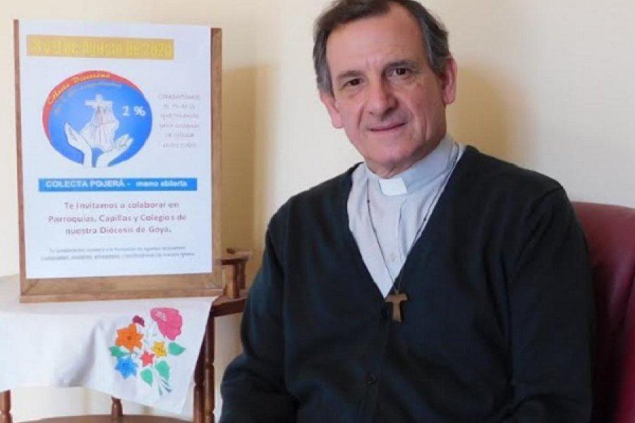 Monseñor Canecin animó a colaborar con la obra evangelizadora de la Iglesia