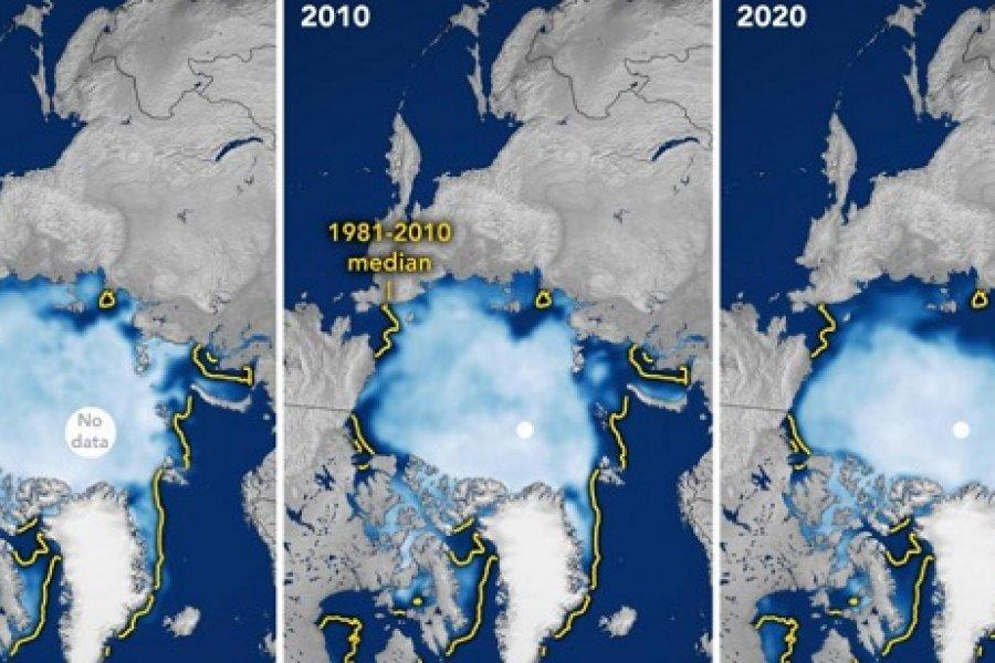 El peor verano para el hielo del Ártico: la Nasa lo demuestra con sus satélites