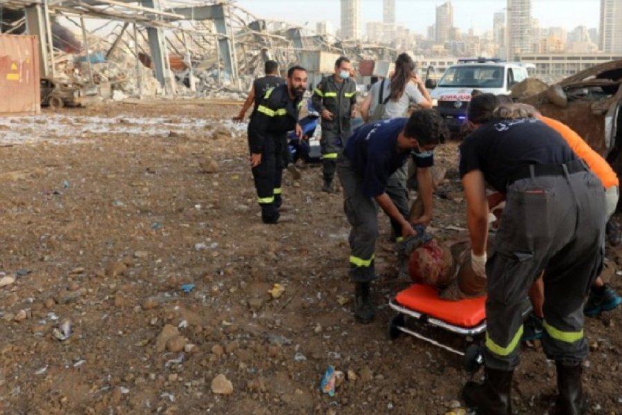 Crece el número de víctimas por las explosiones en Beirut: 154 muertos y 120 heridos graves