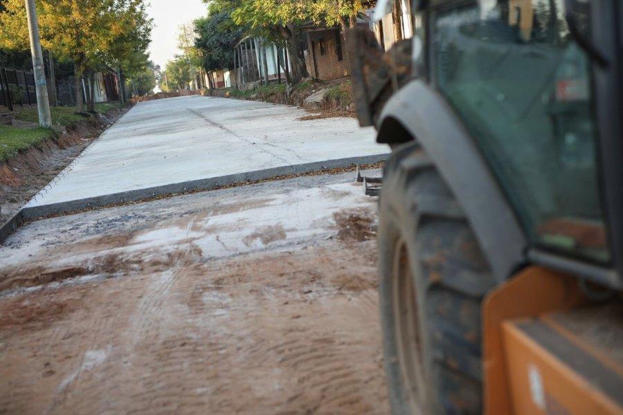 Valdés recorrió obras de infraestructura en Berón de Astrada