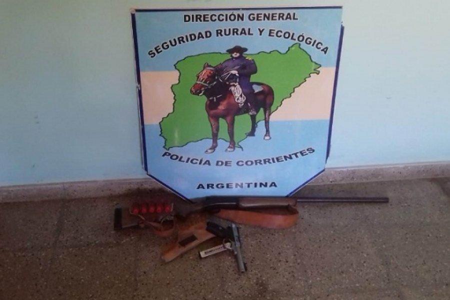 Policía Rural de Corrientes secuestró armas de fuego