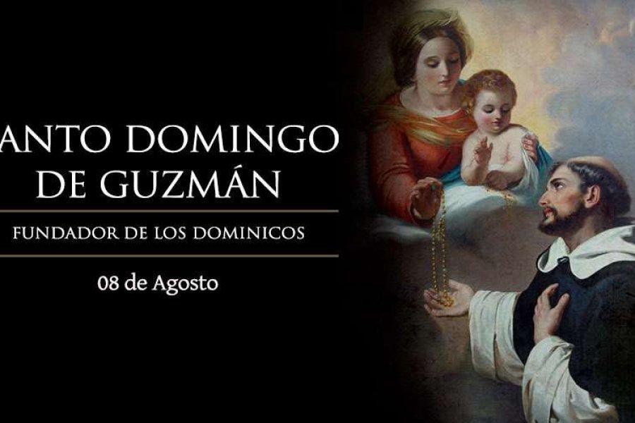 Hoy es la fiesta de Santo Domingo de Guzmán, a quien la Virgen le entregó el Rosario