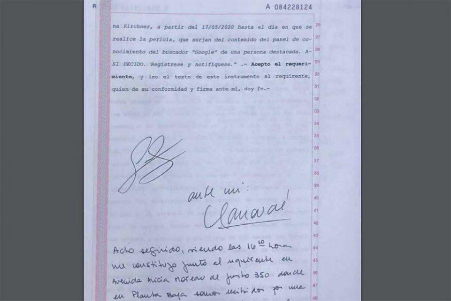 Cristina Kirchner notificó a Google que la Justicia aceptó su demanda