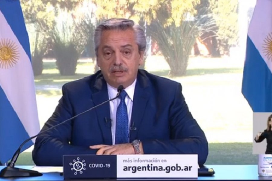 Cuarentena: Fernández anunció que sigue el sistema actual hasta el 30 de agosto