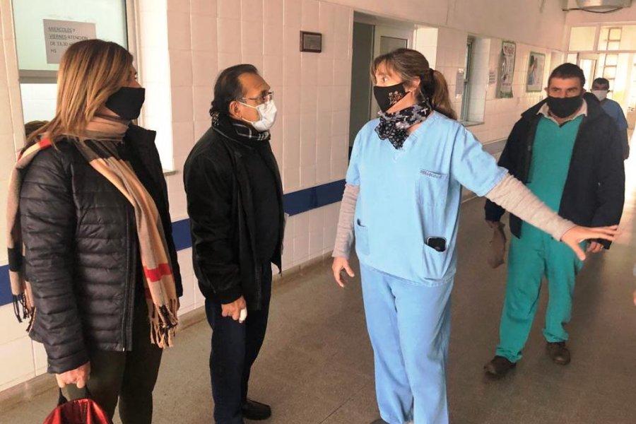 Cardozo verifico obras en el hospital de Mercedes