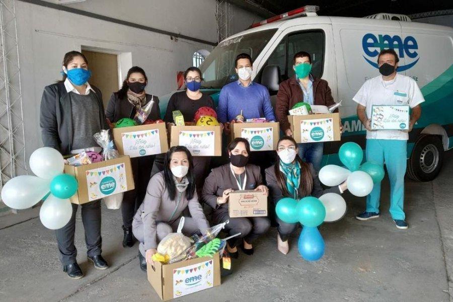 EME entregó donaciones por el día del niño en Chaco y Corrientes