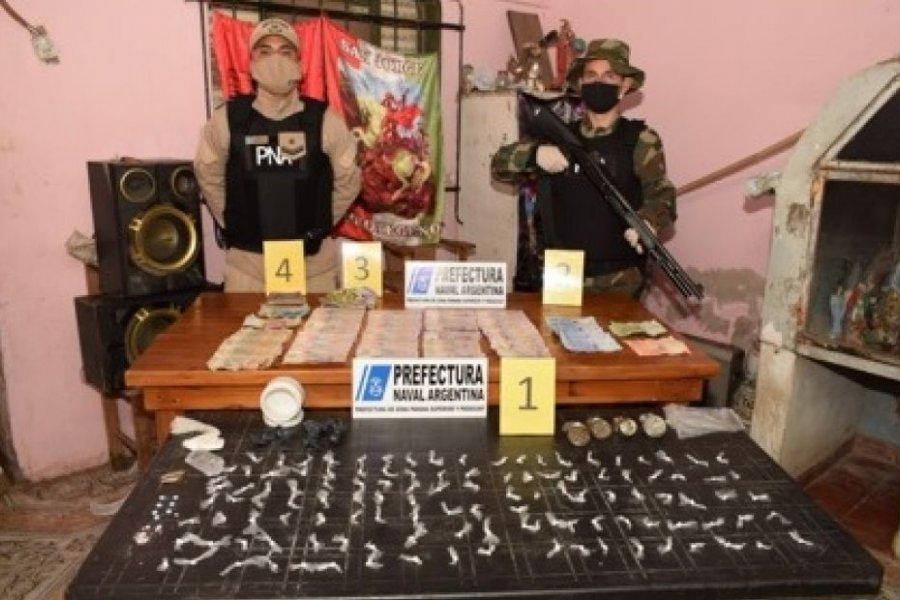Prefectura desmanteló un quiosco de droga en el barrio Juan XXIII