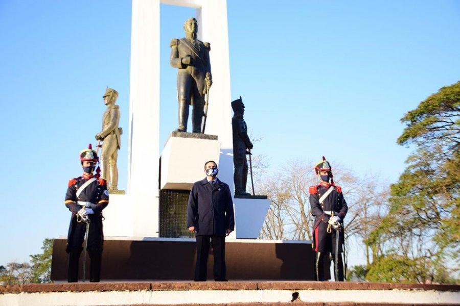 Curuzú Cuatiá conmemoró el 170° aniversario del fallecimiento de San Martín