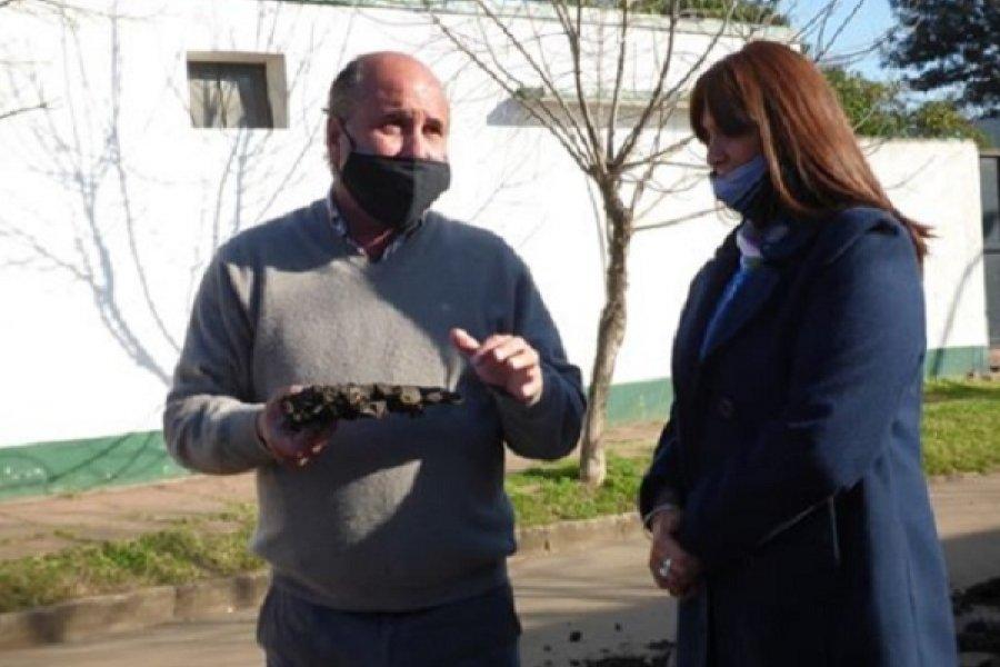 El Intendente recorrió las obras públicas en Mercedes