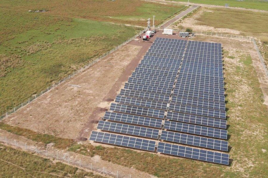 Inauguraron la primera Central de Energía Solar de la provincia