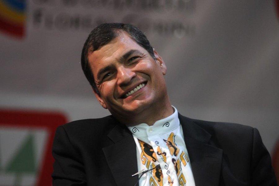 Rafael Correa será candidato a vicepresidente de Ecuador