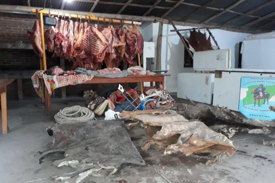 Abigeato: La Policía secuestró más de 600 kilos de carne