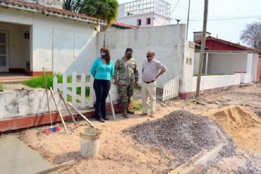 Mercedes: Municipio y Ejército siguen con las obras en barrios militares