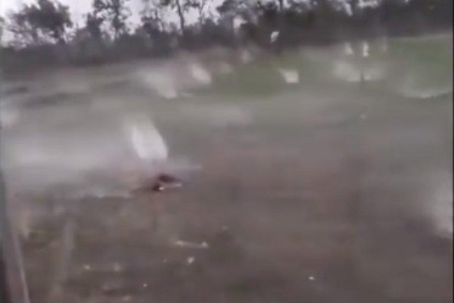 VIDEO- Temporal con impresionante caída de granizo en Entre Ríos