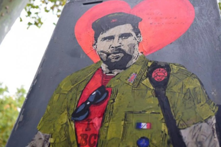 """""""Hasta siempre, comandante"""": el grafiti de despedida de Messi"""