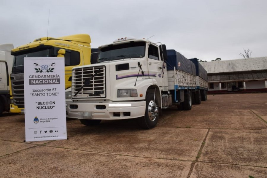 Intentaban trasladar ilegalmente 142 toneladas de soja a Misiones