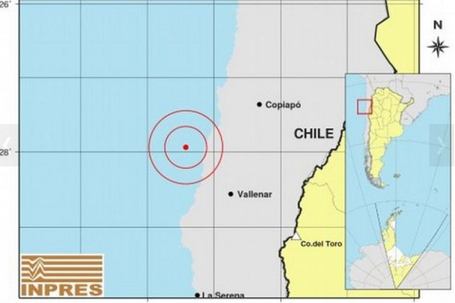Fuerte temblor en Chile se sintió en provincias de Argentina