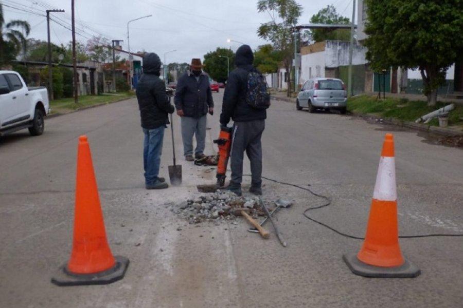 Mercedes: El Gobierno municipal realiza obras en distintos puntos de la Ciudad