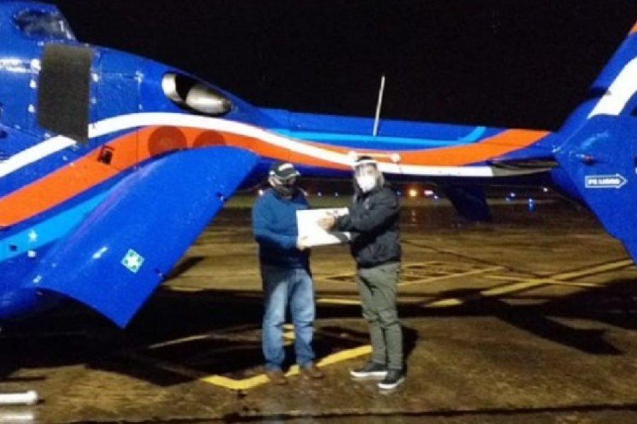 Helicóptero de la Gobernación de Misiones trasladó un riñón desde Paso de Los Libres