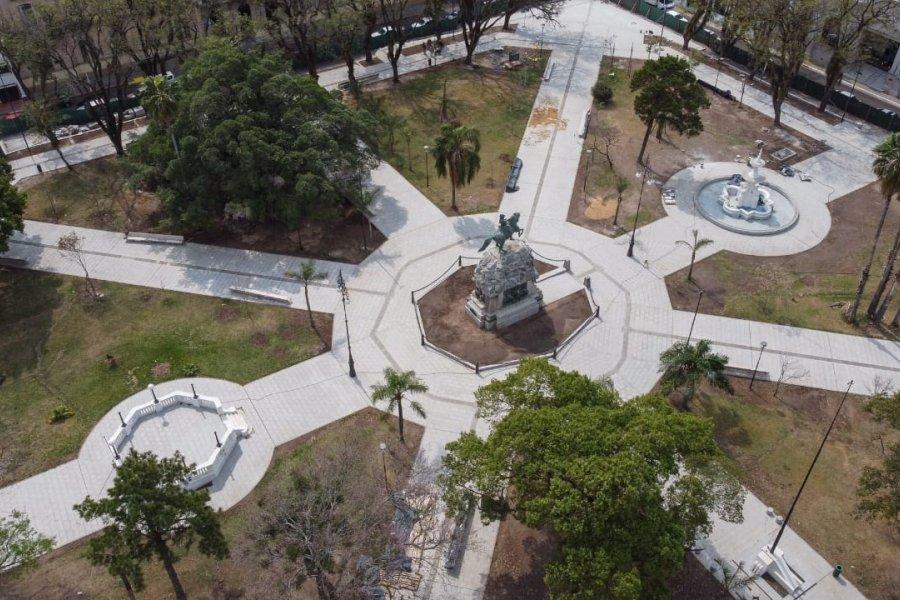 Las obras en la plaza 25 de Mayo están cerca de concluirse
