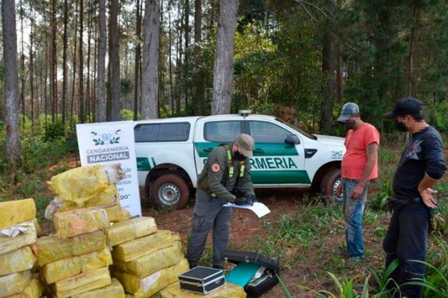 Misiones: Decomisan más de 2.600 kilos de marihuana