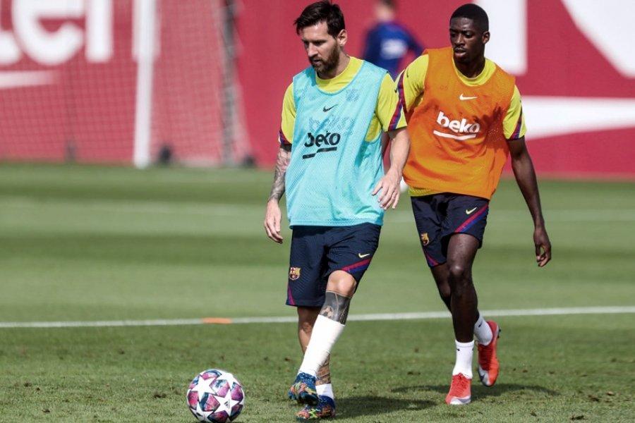 Messi no fue a la práctica y se sumaría el lunes