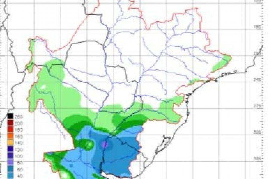 Anticipan posibles lluvias para la cuenca del río Uruguay
