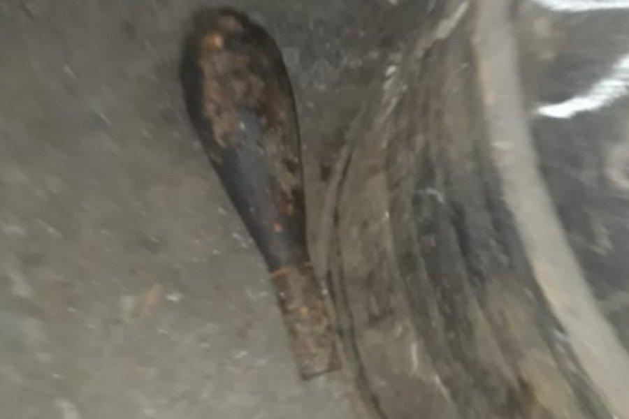 Herrero denunció hallazgo de un artefacto explosivo
