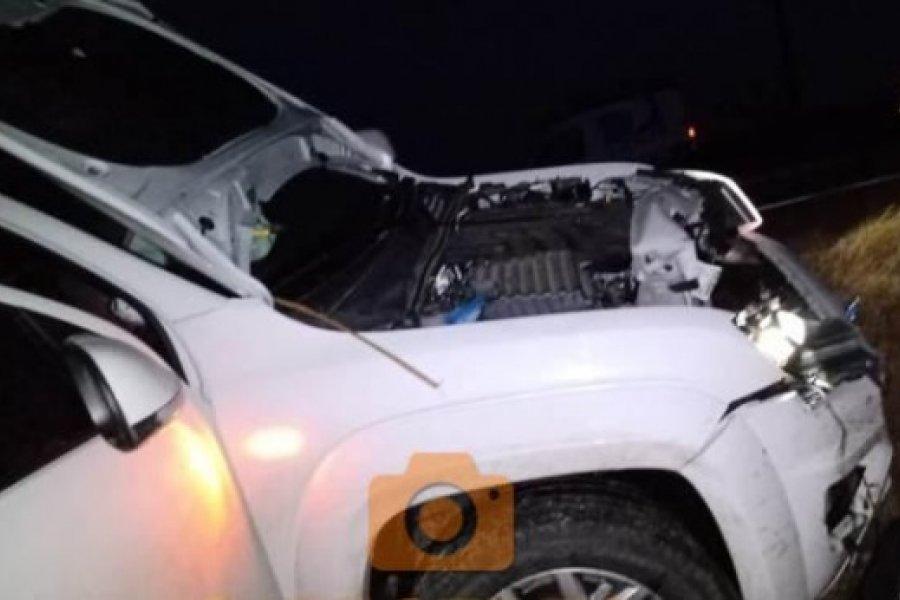 Una vaca suelta provocó un accidente en la Ruta Nacional 123