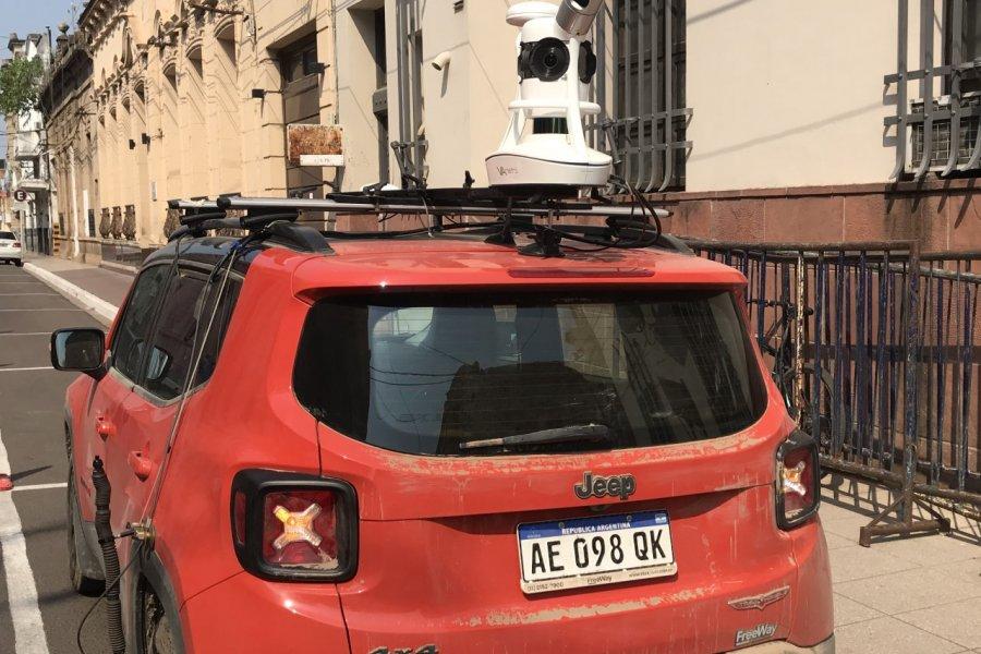Con un equipo sensor móvil, avanza con el relevamiento catastral en la Provincia