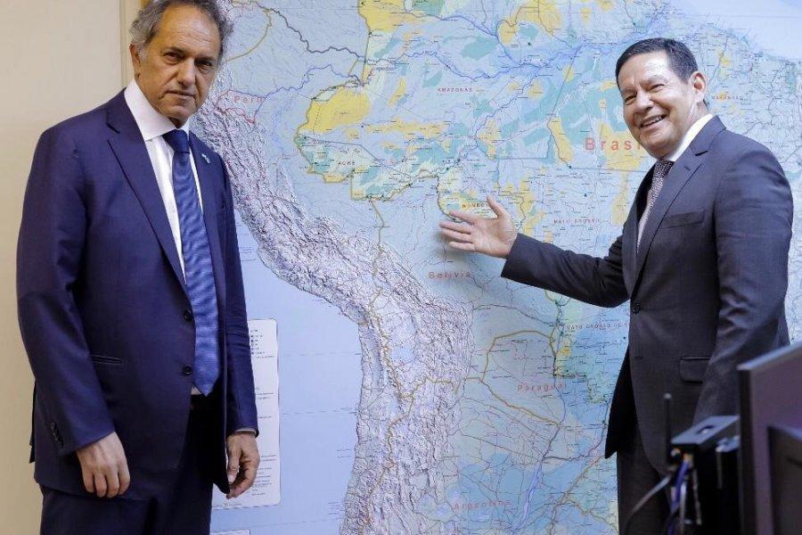 Scioli mantuvo un nuevo encuentro con el Vicepresidente de Brasil