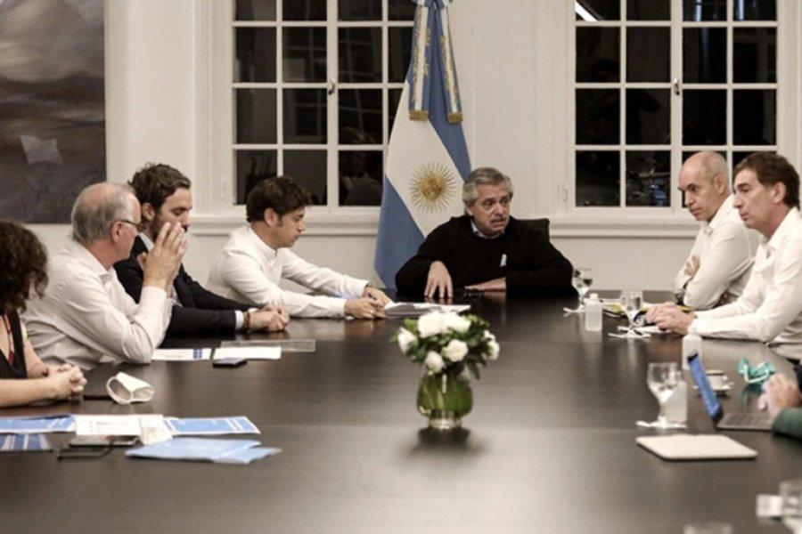 Alberto Fernández recibe en Olivos a Axel Kicillof y Horacio Rodríguez Larreta