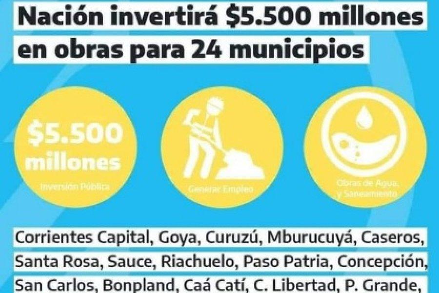 Obras nacionales para Corrientes: Beneficiario privado más beneficiado aún