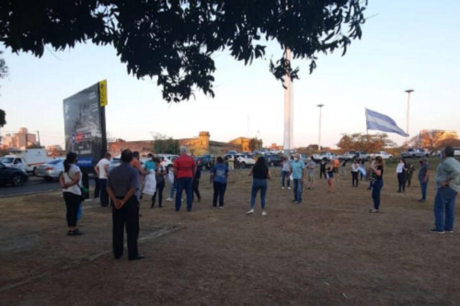 Caravana hasta Corrientes: Chaqueños volvieron a reclamar para que liberen el puente