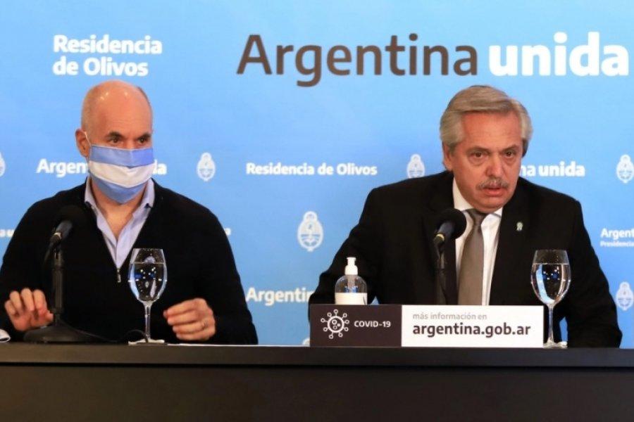 El diálogo a solas de Alberto Fernández con Rodríguez Larreta